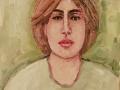 jeune fille en vert 12 x 16